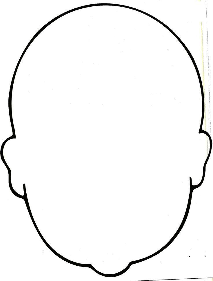 Image result for Blank faces templates - SparkleBox boy montessori