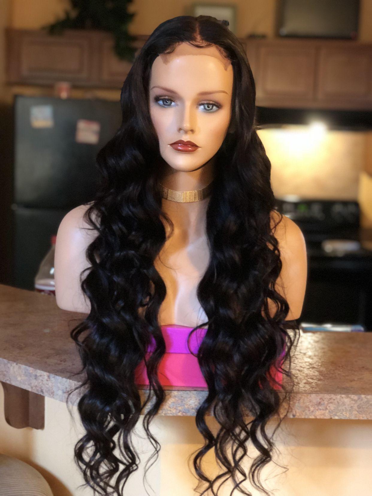 0da92776694 28 inches of hairrr 😍😍😍 Custom unit made with 4 bundles & a ...