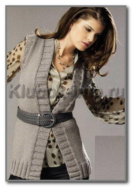 жилеты вязаные спицами для полных женщин вязание вязание