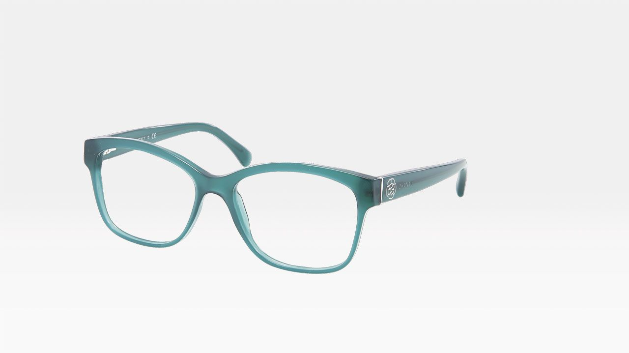 3bd2b9c1242 Chanel square shaped acetate eyeglasses with metal camellia 3255 ...