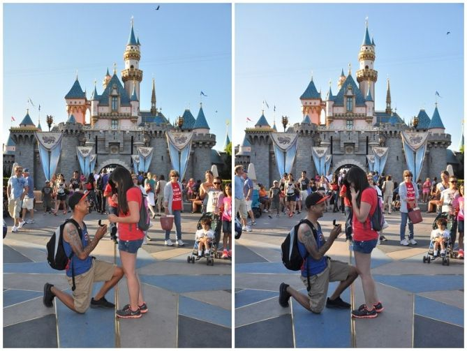 Disneyland Proposal In Front Of Sleeping Beauty Castle Disneyland