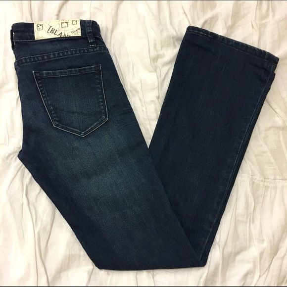 Blank denim boot cut 30 inch inseam , runs small I'm 5'3 105 32-23-35 and they are too tight for me  Blank Denim Jeans Boot Cut
