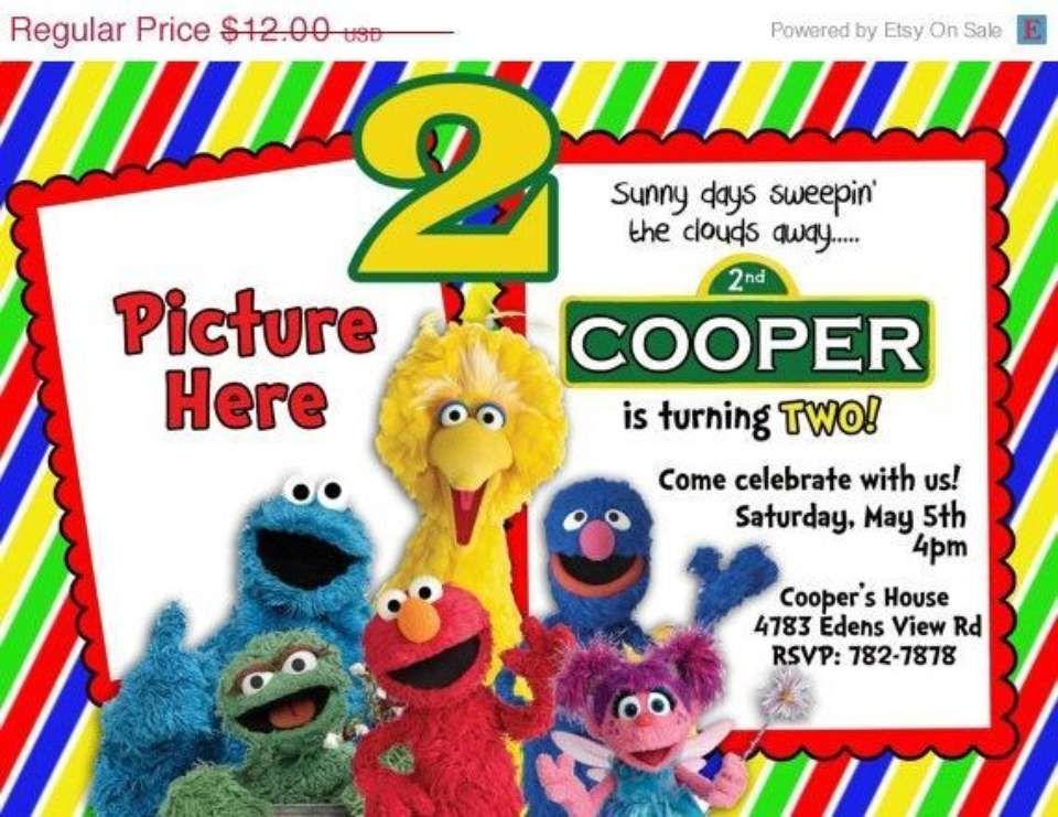 Sesame Street 2nd Birthday Party