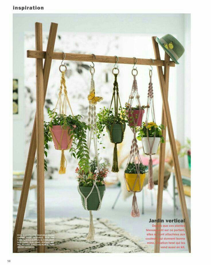 Photo of Hanging planter indoor, Wall succulent planter, Ceramic plant hanger, Ceramic plant holder, Wall succulent pot, Hanging plant pot