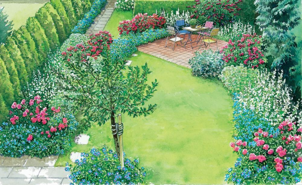 gestaltungsideen f r einen kleinen reihenhausgarten gartengestaltung pinterest. Black Bedroom Furniture Sets. Home Design Ideas