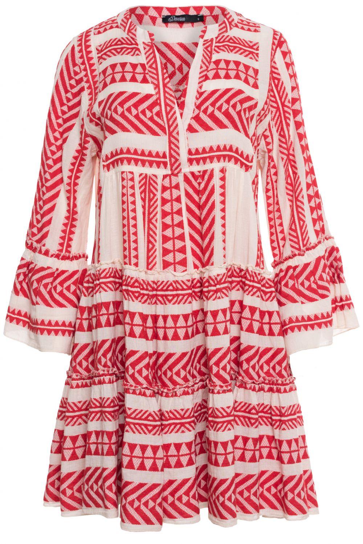 Devotion Damen Kleid aus Baumwolle Rot   SAILERstyle ...