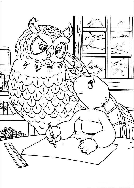 Franklin The Turtle Kids Coloring Pages And Free Colouring Pictures To Print Turtle Coloring Pages Free Coloring Pictures Kindergarten Coloring Pages