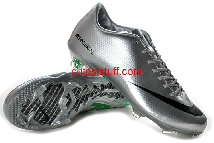 Nike Mercurial Vapor IX FG Silver Green Black  Football BootsFootball