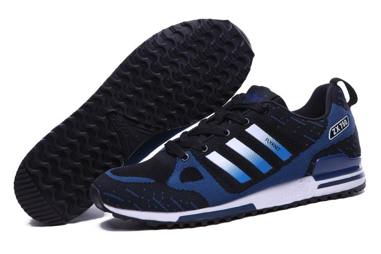 huge discount bfe1e 80ddd Men s Adidas Originals ZX 750 Flyknit Shoes Black Navy,Adidas-ZX Shoes Sale