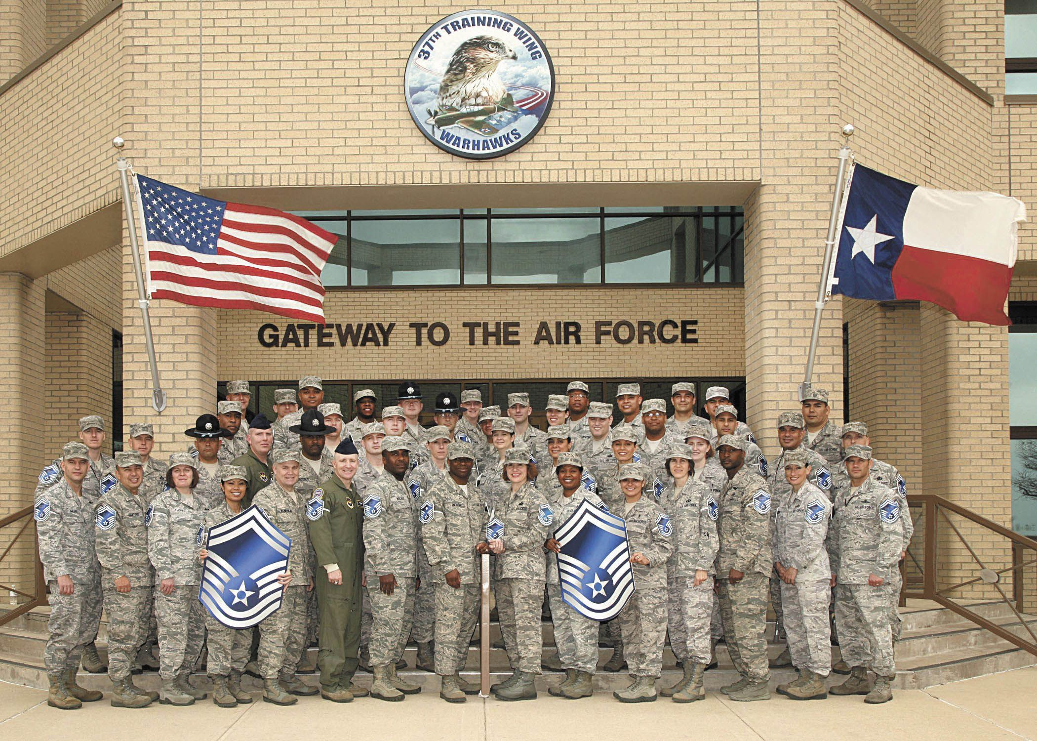 to Lackland AFB, Gateway to the Air Force. I went
