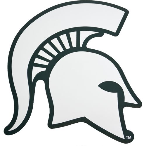michigan state university coloring pages michigan state spartan helmet magnet 11 white w