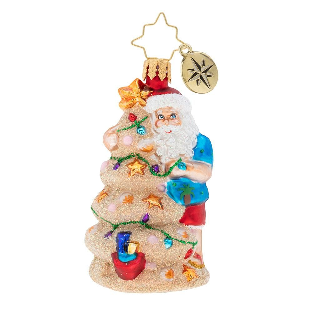 Christopher Radko Christmas In The Sand Gem Beach Santa ...