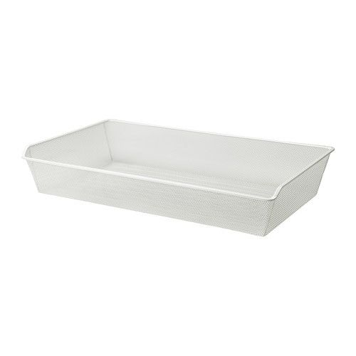 Komplement Mesh Basket With Pull Out Rail White 39 3 8x22 7 8 Ikea Karlby Countertop Ikea Ikea Komplement