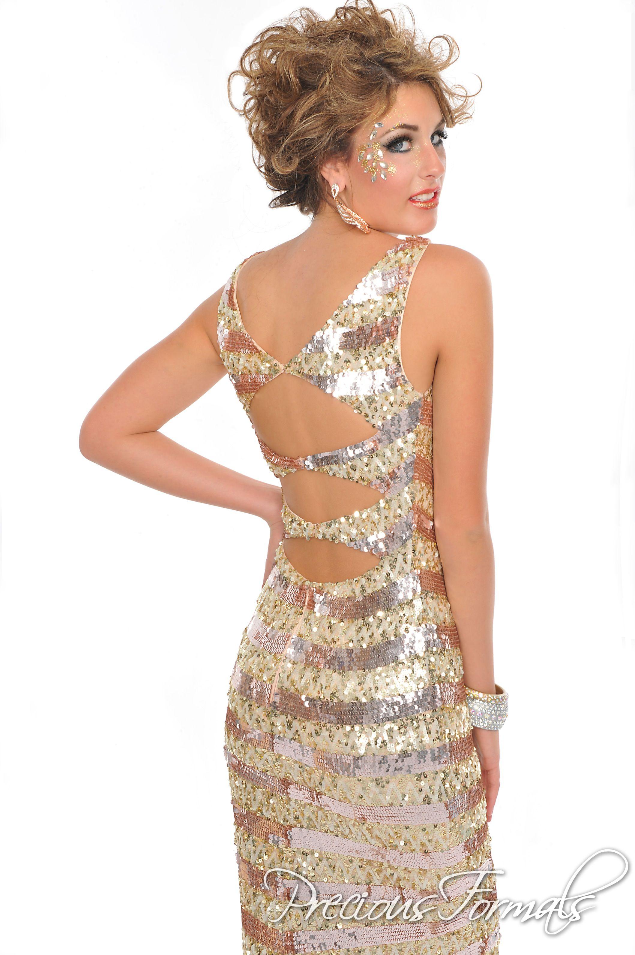 Precious formals in nudegoldcopper precious formals prom dresses