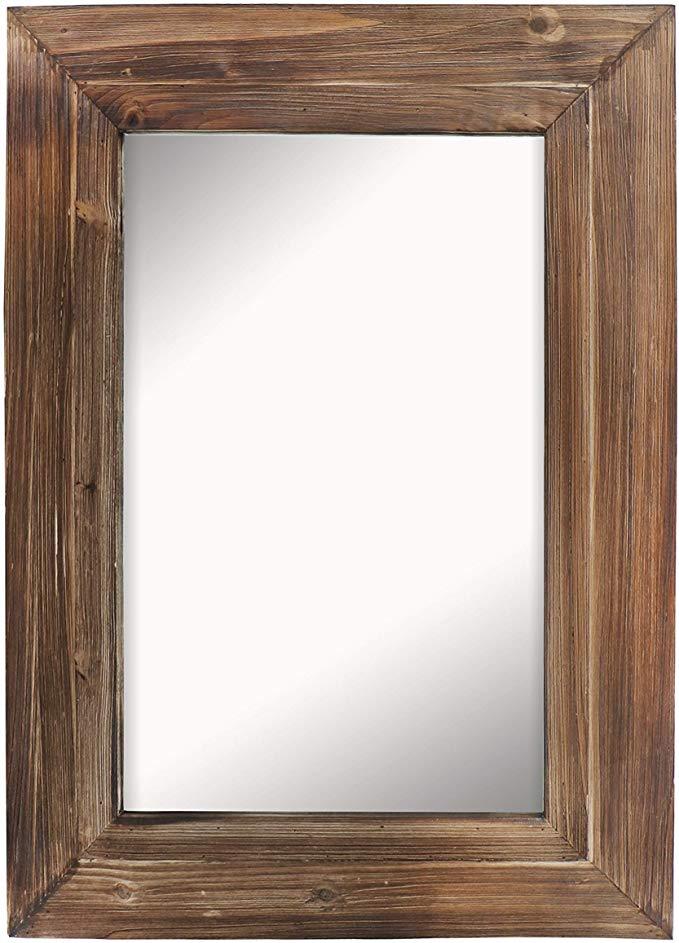 Amazon Com Barnyard Designs Decorative Wall Mirror Rustic Torched