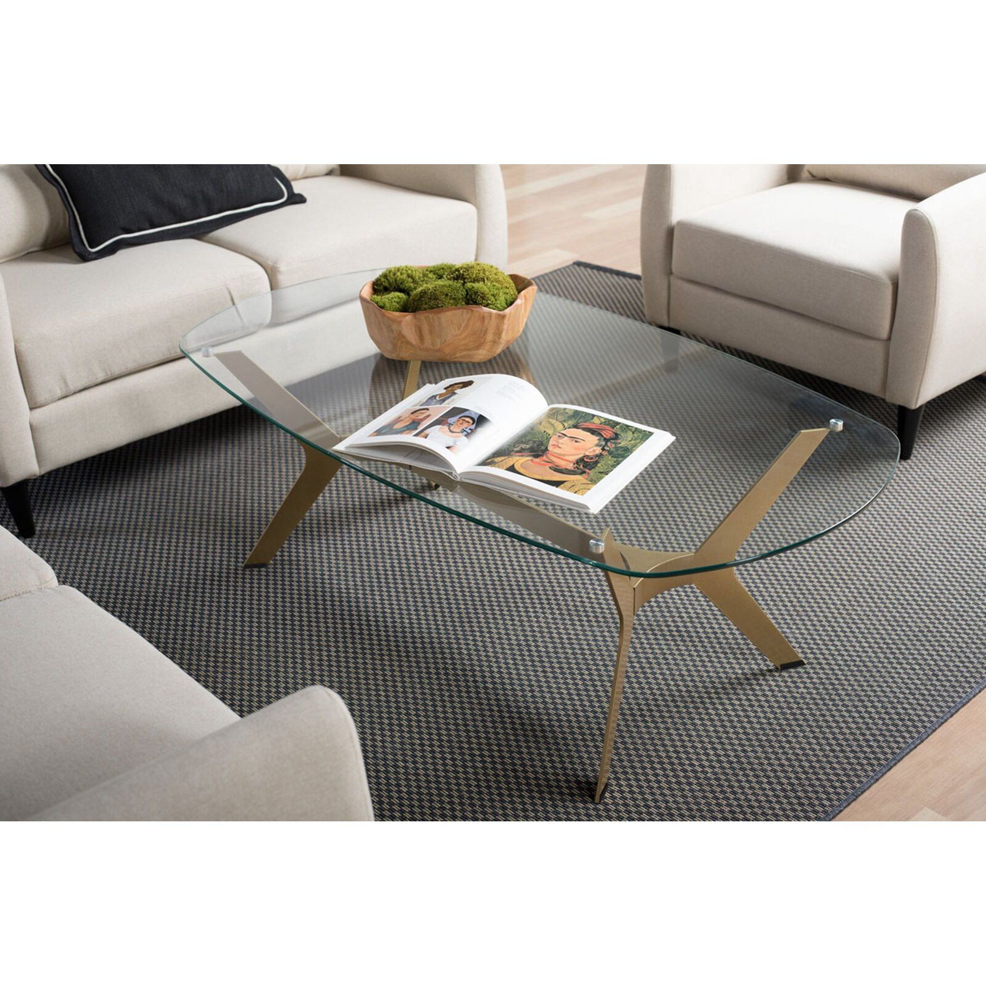 Studio Designs Home Archtech Mid Century Modern Coffee Table With Glass Top Walmart Com Mid Century Modern Coffee Table Coffee Table Modern Glass Coffee Table [ 2000 x 2000 Pixel ]