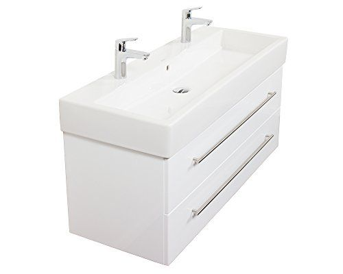 Duravit Vero 120 Cm Double + Meuble Emotion24 Blanc Brillant