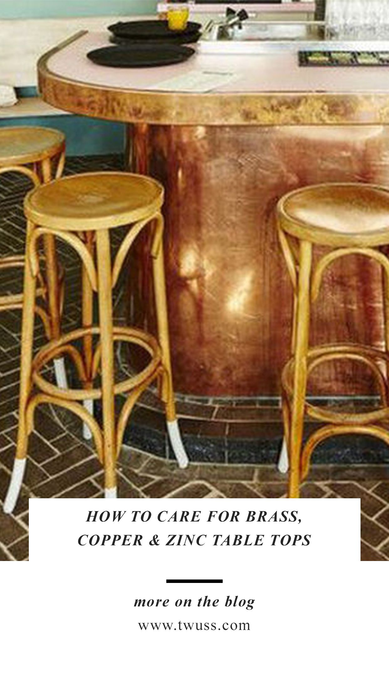 How To Care For Brass Copper Zinc Table Tops Zinc Table Copper Top Table Copper Table