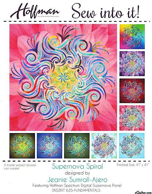 Supernova Spiral - Laser Cut Appliqué Kit - Confetti - From www - confeti