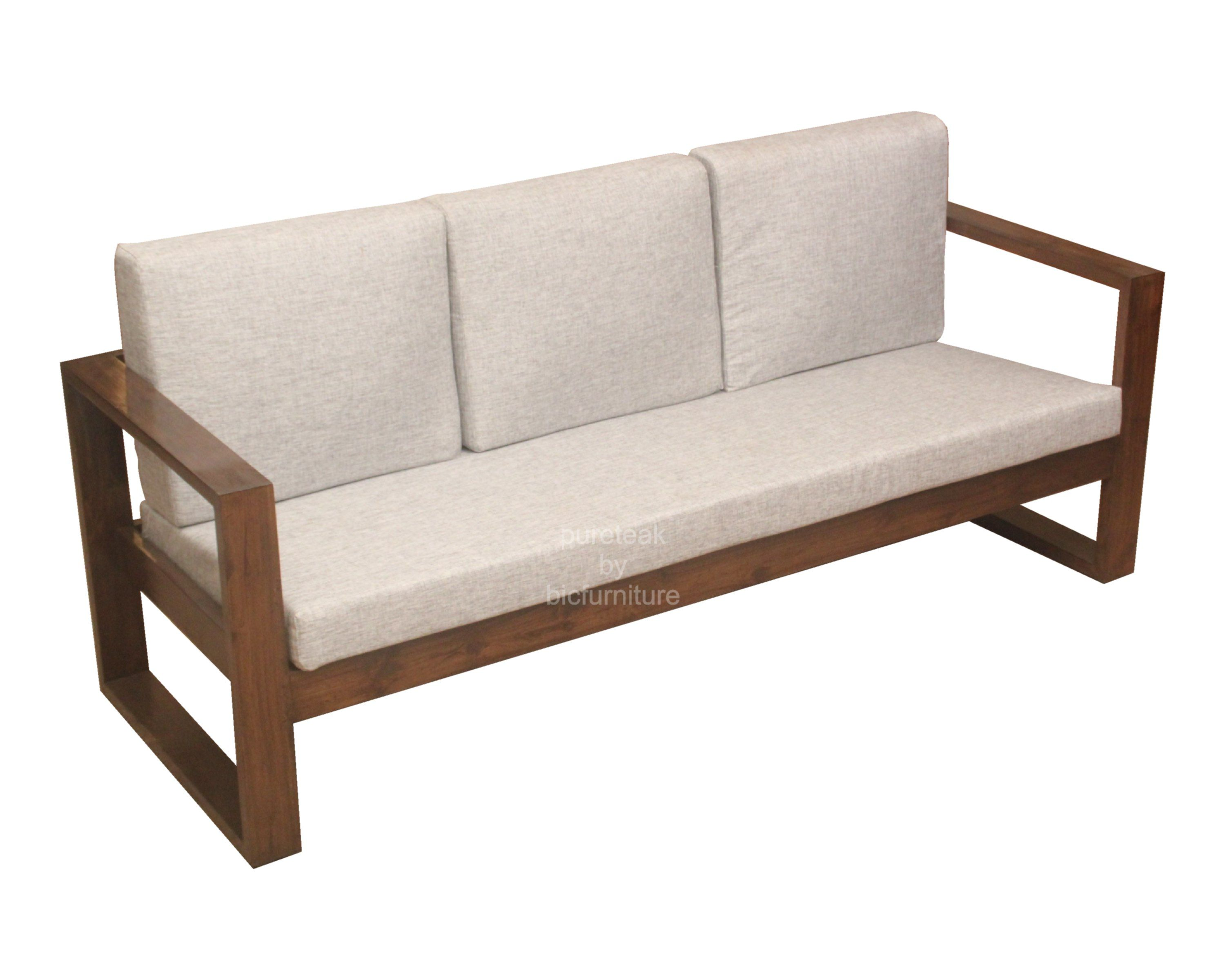 Wooden Sofa Set In Simple Design Ws 67 Details Bic Furniture India Furniture Sofa Set Wooden Sofa Set Furniture