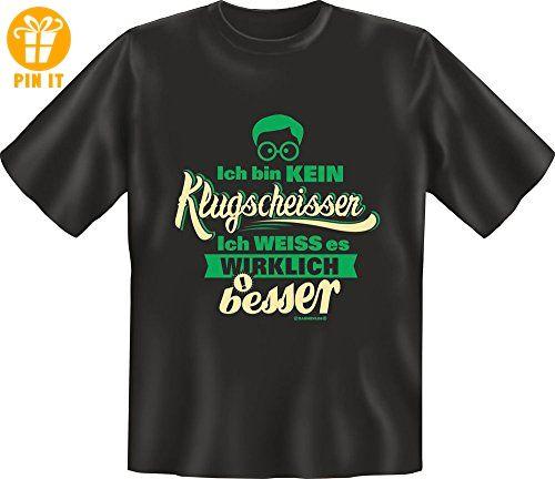 Fun - Klugscheißer - Fun T-Shirt 100% Baumwolle - Größe L - T