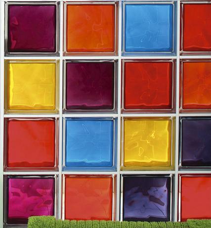 briques de verres multicouleurs brique de verre brique. Black Bedroom Furniture Sets. Home Design Ideas