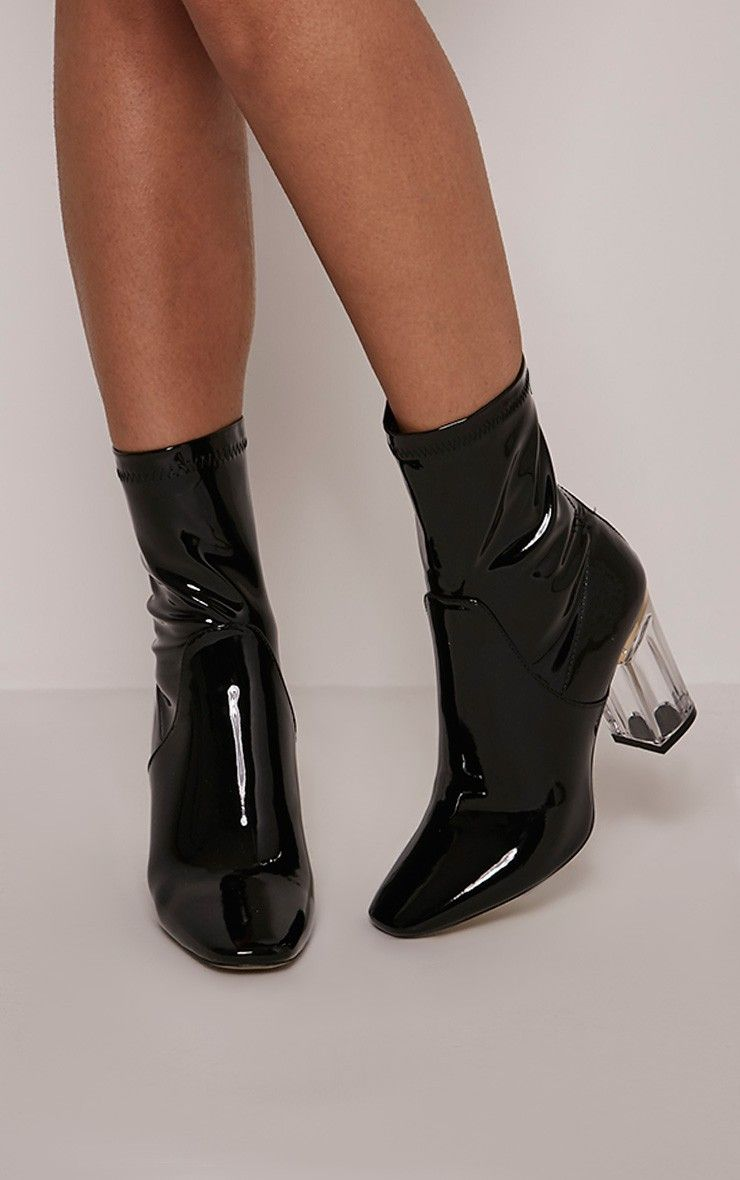 Pretty Little Thing Patent Boots- As soon as the Christian Dior Vinyl look  boots hit the runway in AW15  019313a9b6