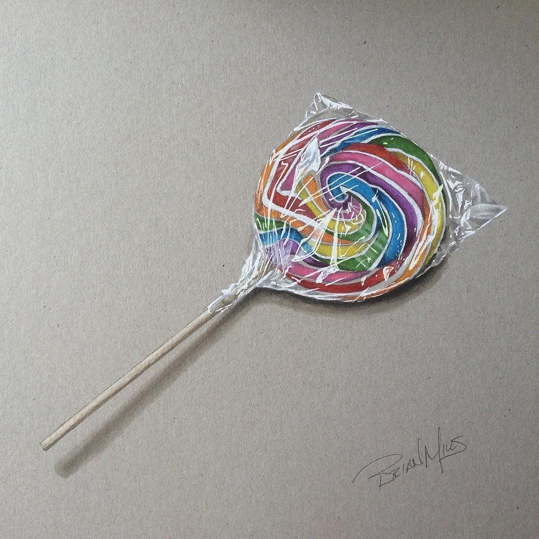 My Drawing Of A Lollipop Brianmillsart Art Prismacolor