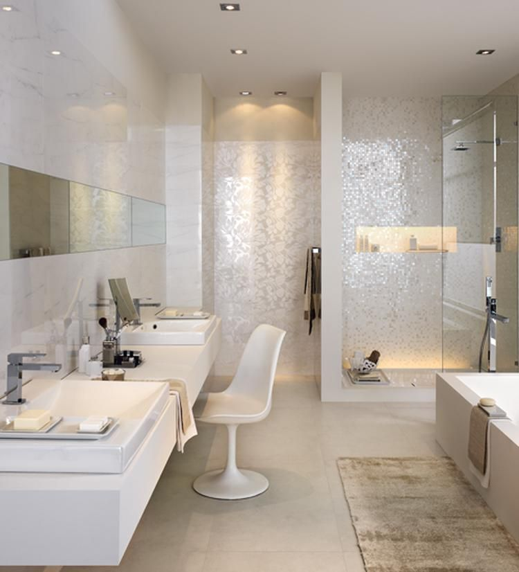 lichte badkamer mozaiek | The Bathroom | Pinterest | Bathroom ...