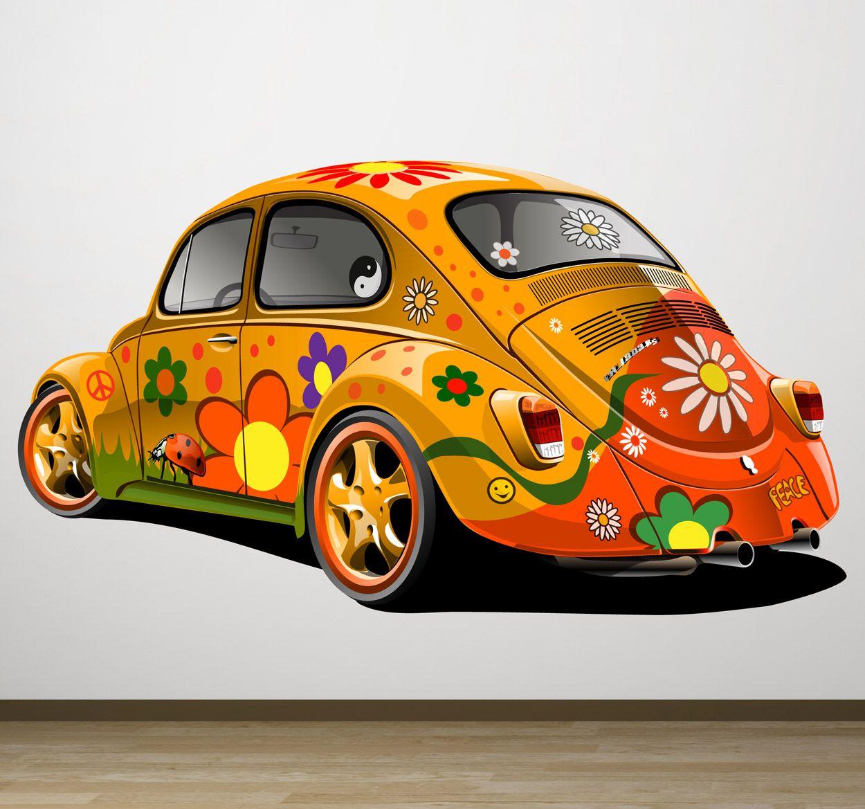 Hippie Käfer Aufkleber Unique Vw Vw Käfer Käfer Auto