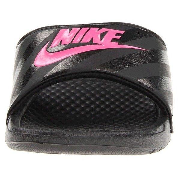 Nike Benassi JDI Slide (Black/Vivid Pink-Black) Women's Sandals ($20