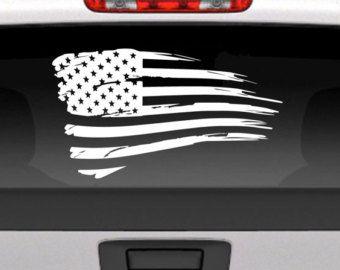 Distressed American Flag Vinyl Window Decal For Cars Trucks Etc - Vinyl window decals for trucks