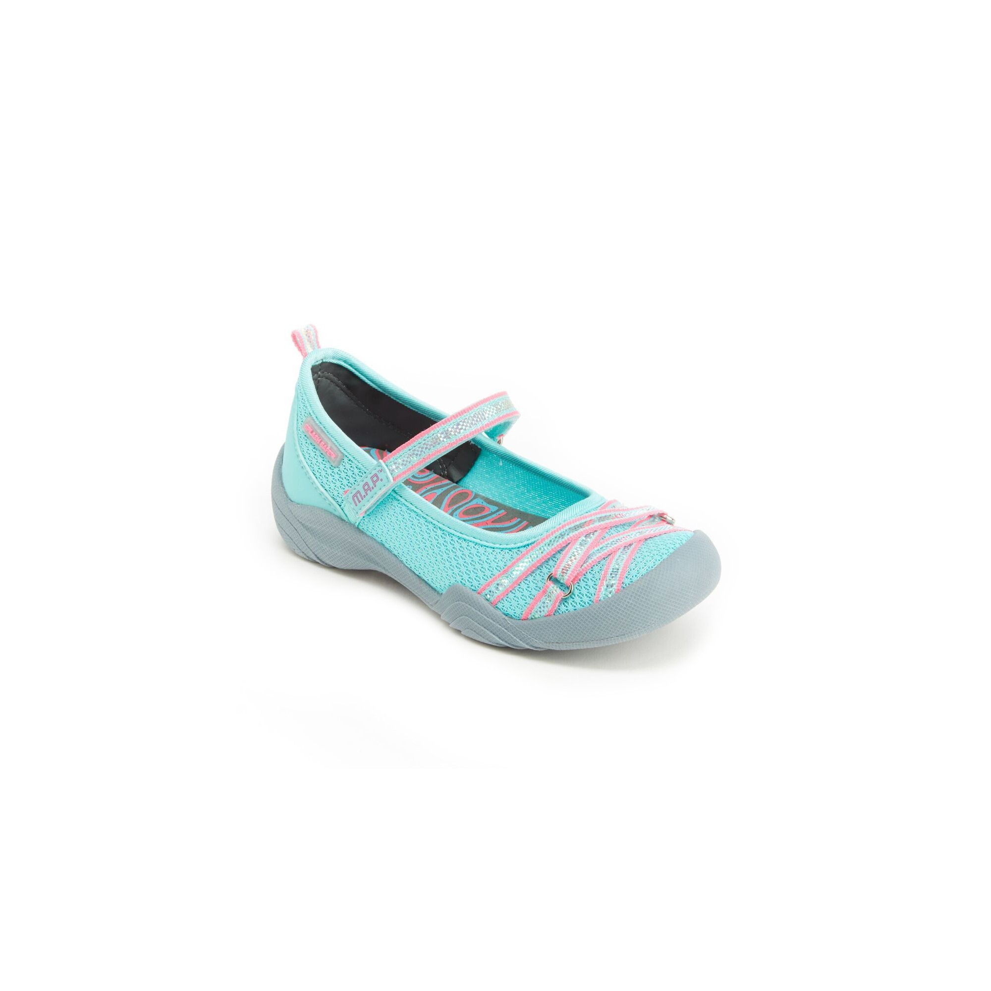 Girls\' M.A.P. Lilith Mary Jane Shoes - Mint/Neon (Green/Neon) 13 ...