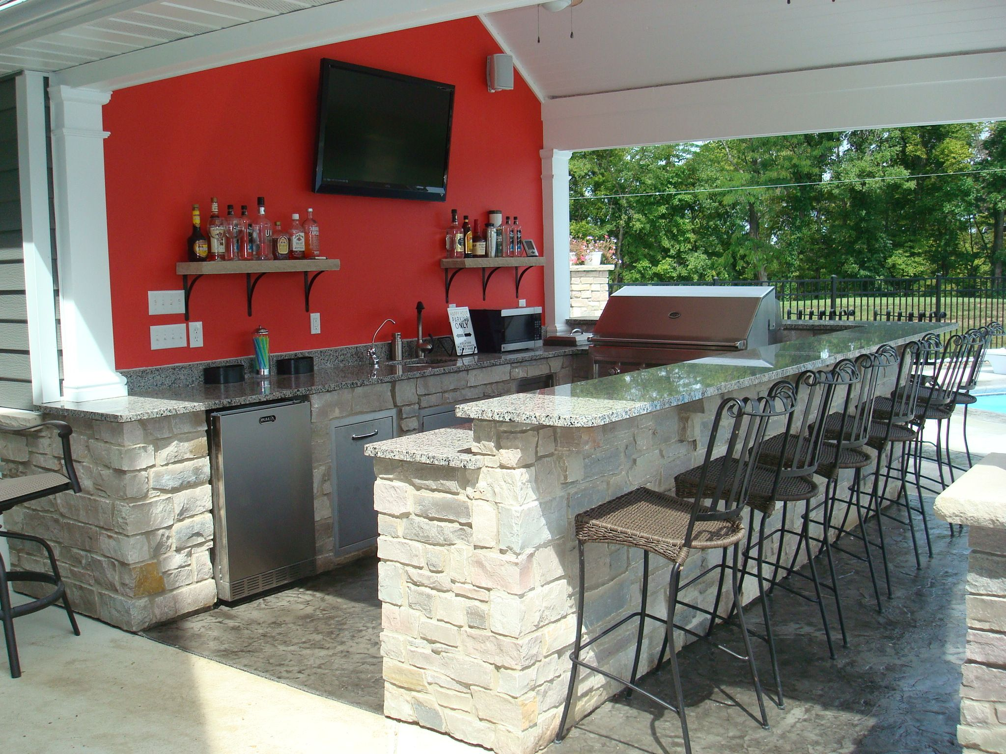 Granite Stone For Kitchen 8 Outdoor Kitchen Pool House Snack Bar Granite Stone Stamped