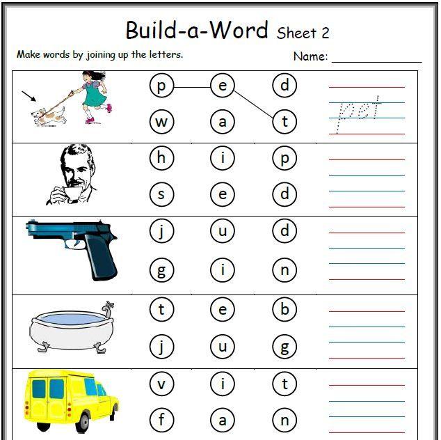 Cvc Work Sheets