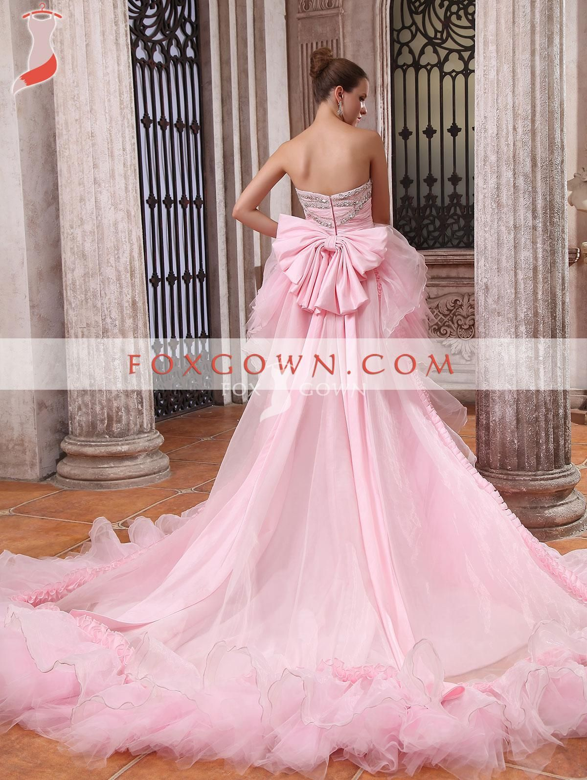 pink wedding dresses pictures Luxury Pink High Low