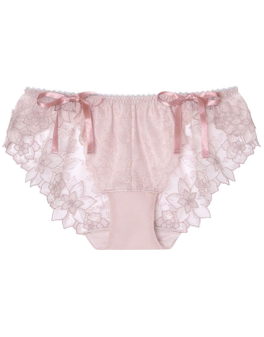 Lace Briefs Satin With Side Ribbons S M L XL