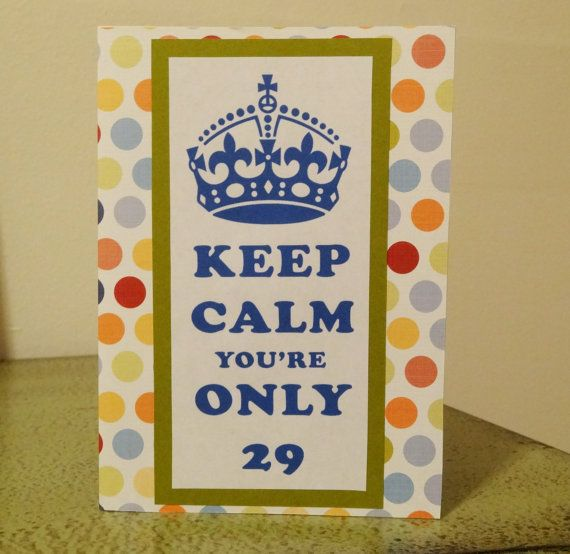 Funny 29th Birthday Card By PaperTechie On Etsy 500