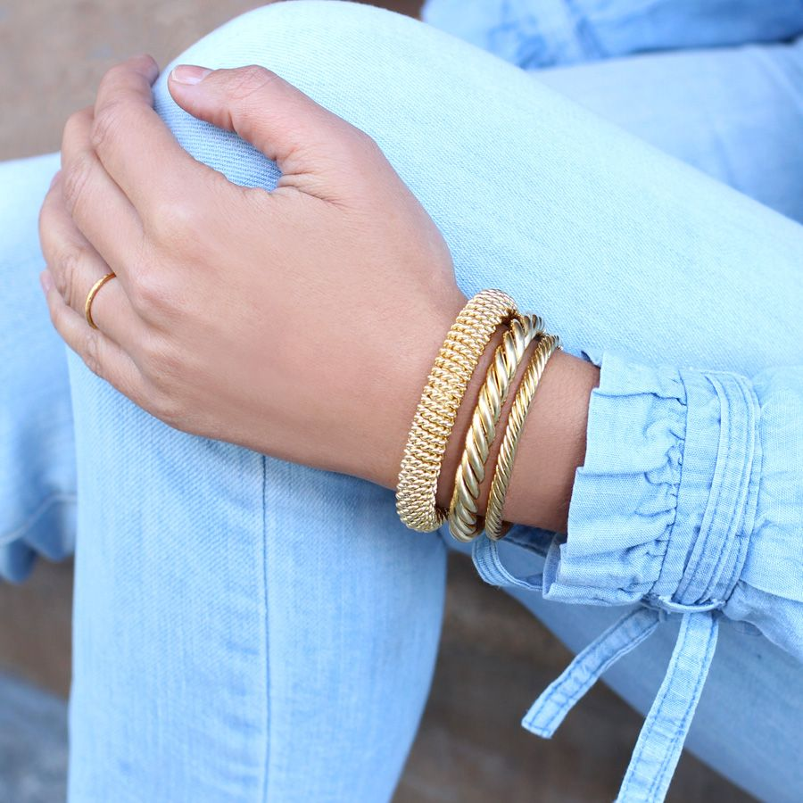 bangles yellow shop bangle gold grecian details twist chains of