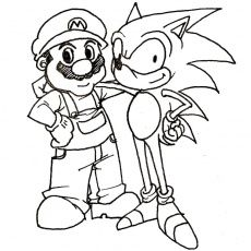 coloring pages : Mario And Sonic Coloring Pages To Print Art Mario ... | 230x230