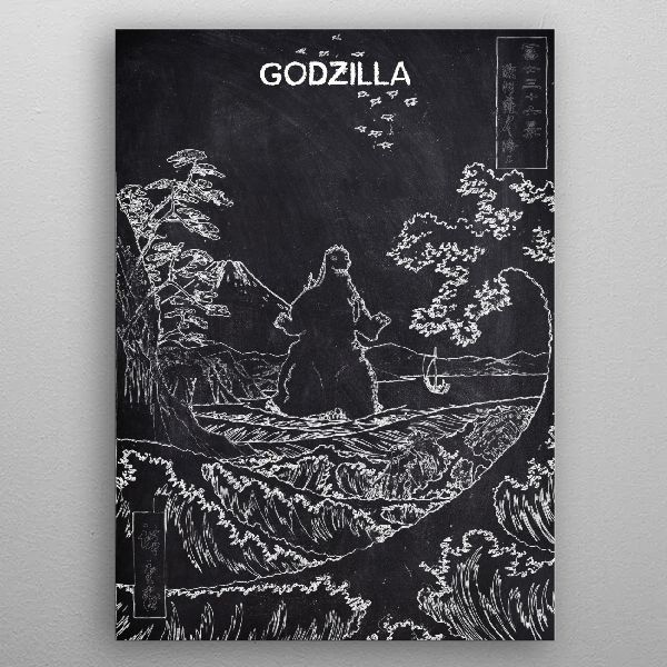 GODZILLA by FARKI15 DESIGN | metal posters - Displate | Displate thumbnail