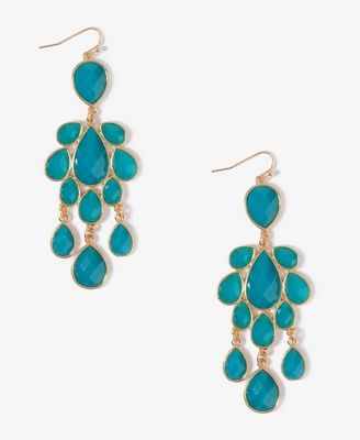 Turquoise   Teardrop Dangle Earrings | FOREVER21 - 1025102559