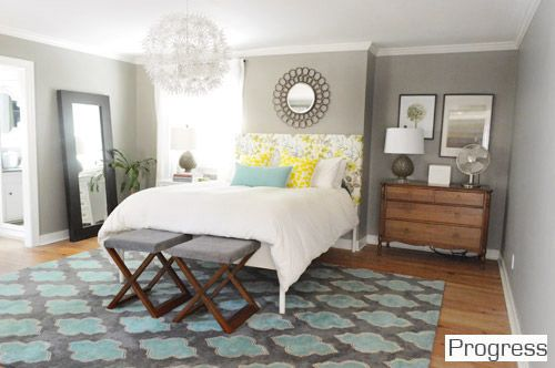Master Bedroom Walls Benjamin Moore S Rockport Gray In Their Natura No Voc Line It An Eggshell Finish Trim Olympic Off The Shelf White Paint