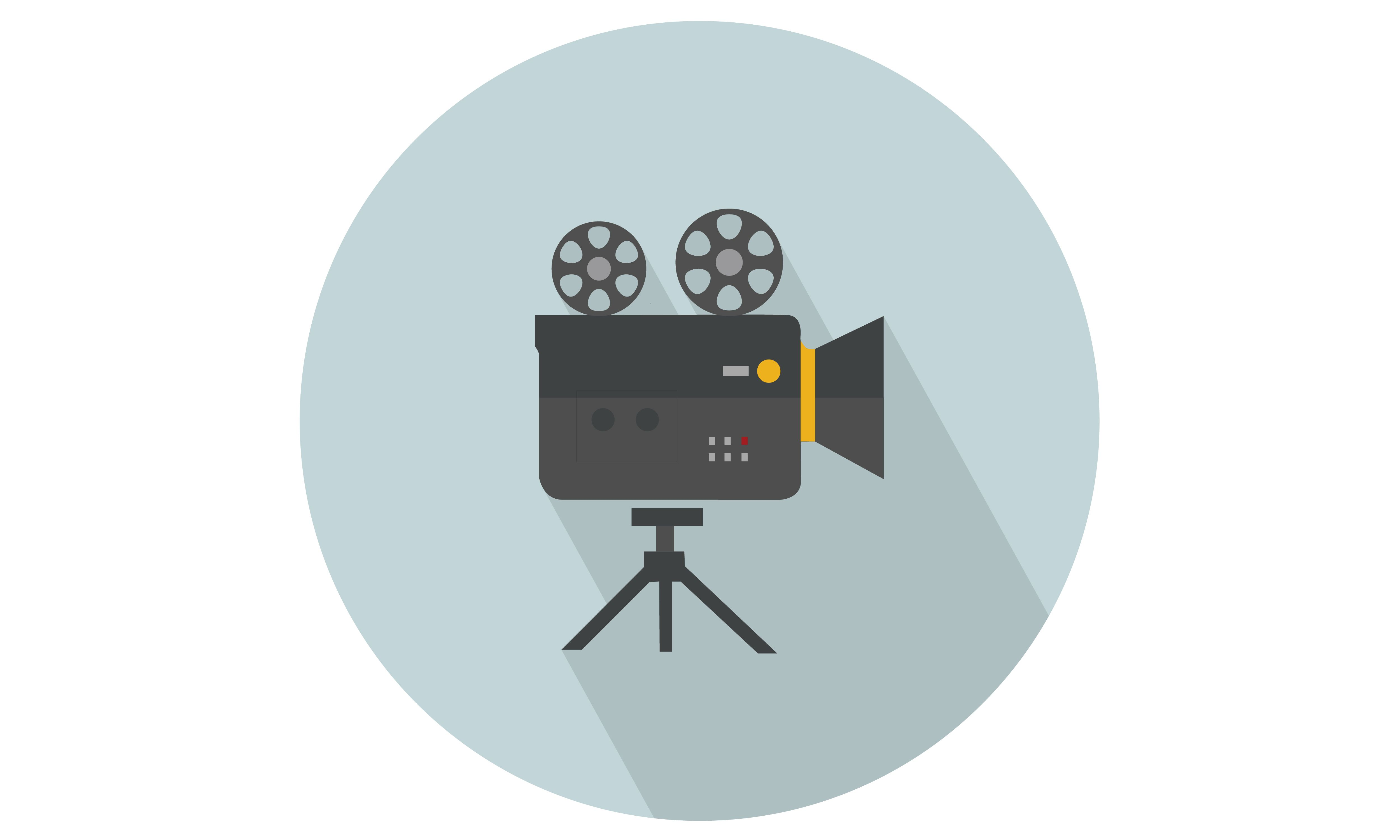 Recording Cinema Movie Camera With Reel And Stand Vector Illustration From Our Range Of Vector Icons Check Camera Illustration Movie Camera Cinema Movies
