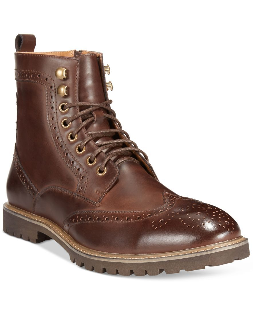 Bar Iii Maddox Wingtip Boots, Only at Macy's