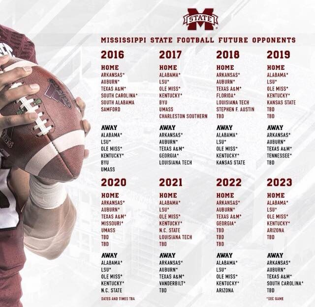 State Football Schedules Mississippi State Louisiana Tech Mississippi State Bulldogs