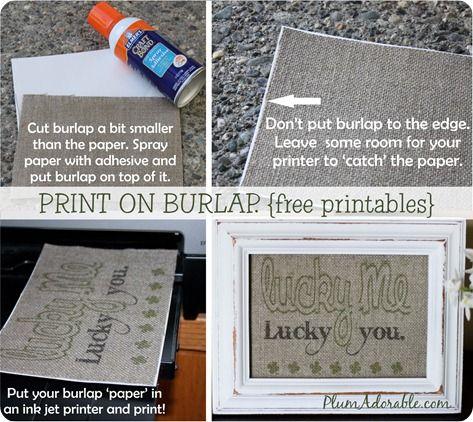 print on burlap