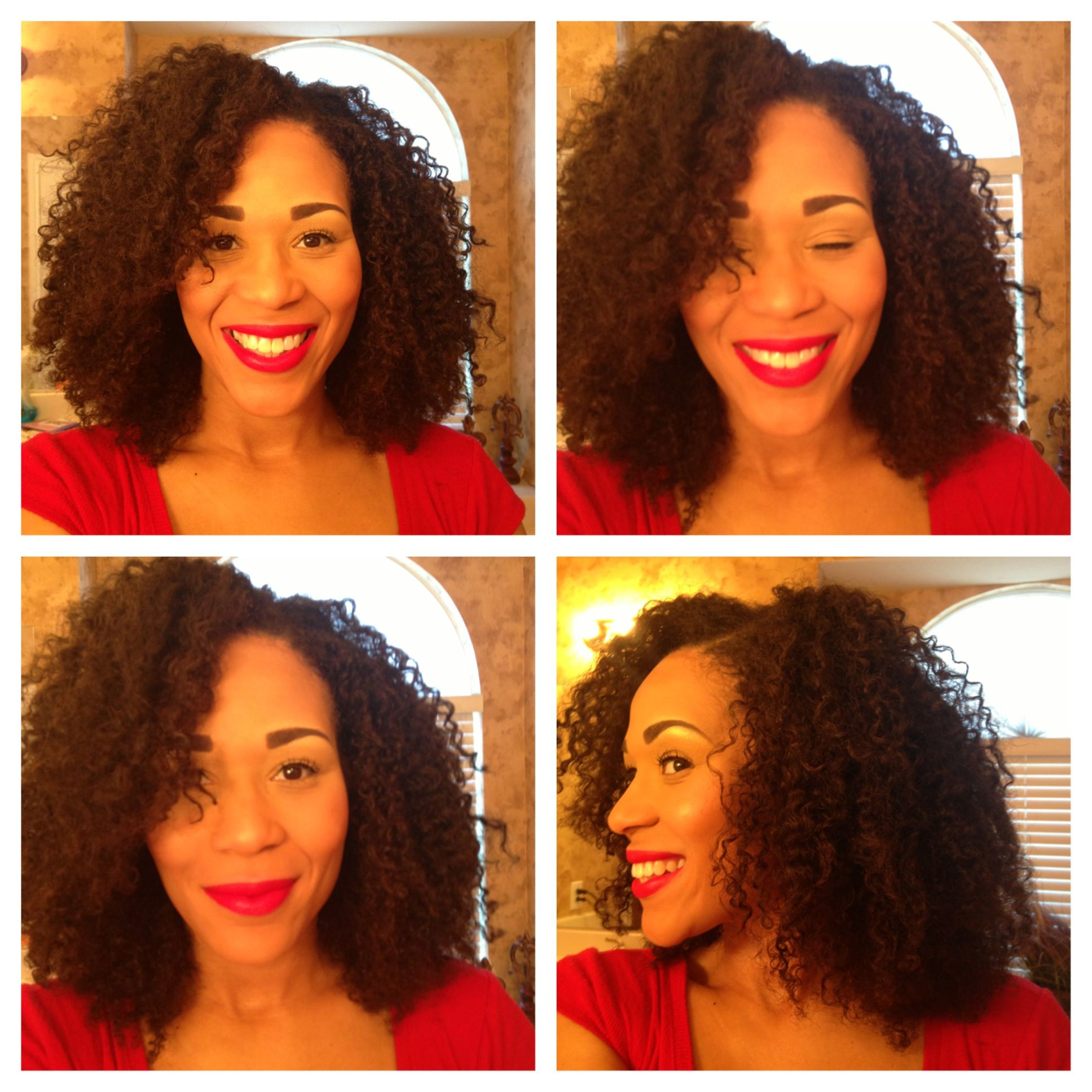 Braid out on an old wash n go big hair dont care