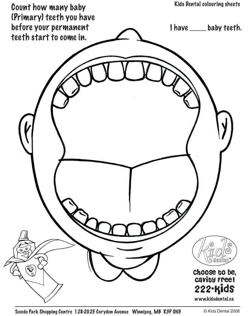 814x1033 Open Mouth With Teeth Coloring Pages Dental Health