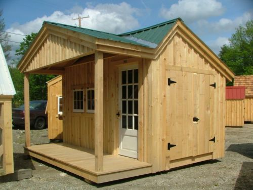 New Potting Fort With Porch 12x12 Diy Plans Storage Shed Cottage Playhouse Ebay